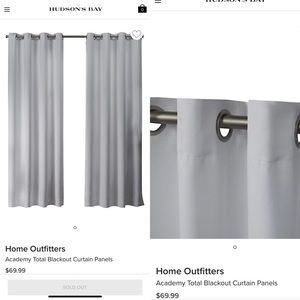 New Blackout Curtains  52x84